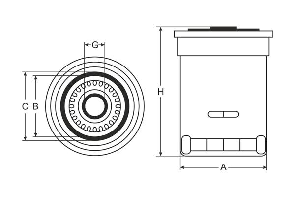 sk 810 oil filter sct