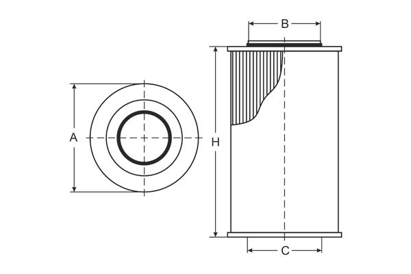 sc 7043 p fuel filter sct