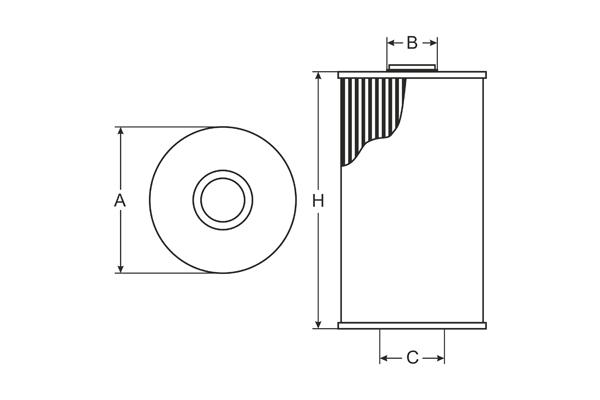 sh 4053 p oil filter sct